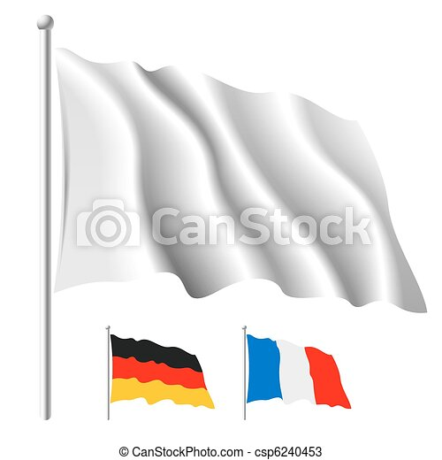 White flag template - csp6240453
