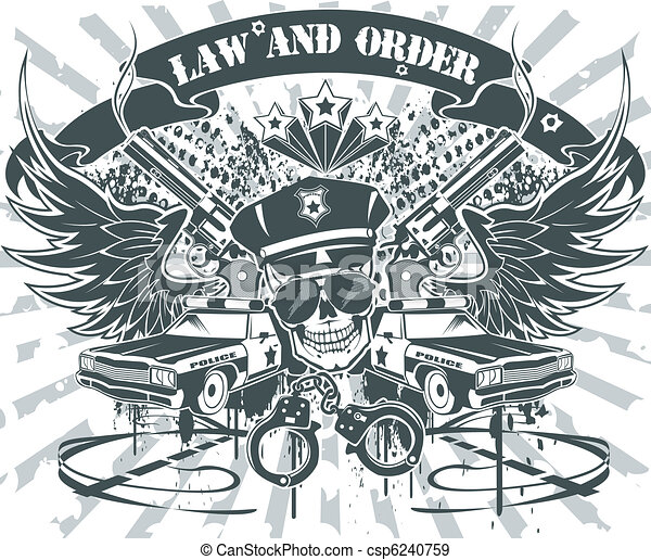Law and Order Emblem - csp6240759