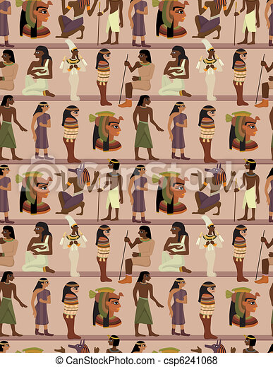seamless pharaoh pattern - csp6241068