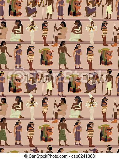 seamless pharaoh pattern - csp6241068