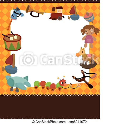 cartoon kid toy card - csp6241072