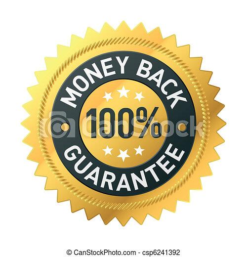 Money back label - csp6241392