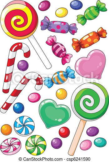 Clipart vecteur de bonbons illustration de a beau - Bonbon a dessiner ...