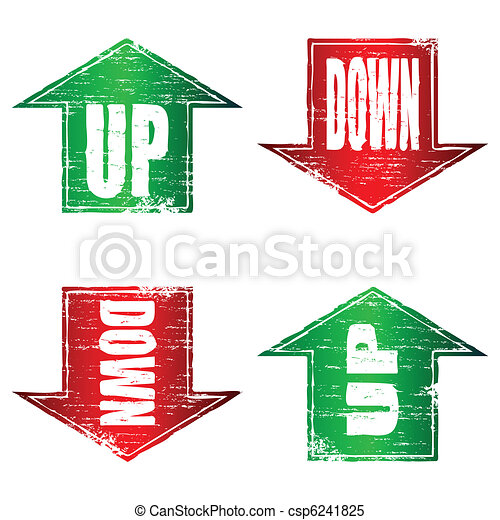 Up and Down Arrows Stamp - csp6241825