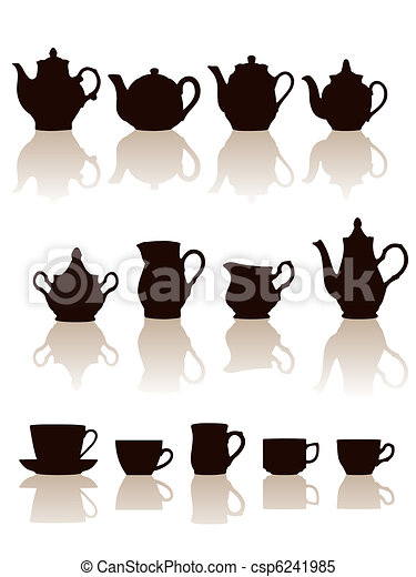 Crockery objects silhouettes set. - csp6241985