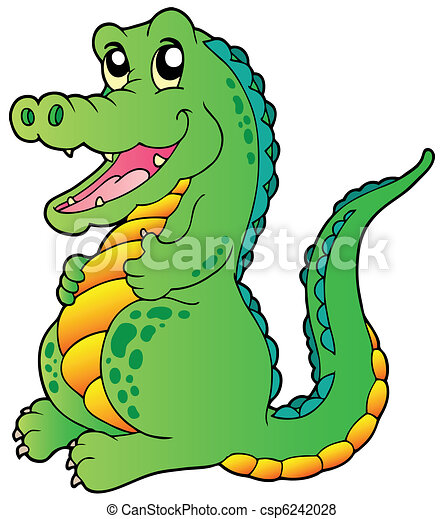 Cartoon standing crocodile - csp6242028