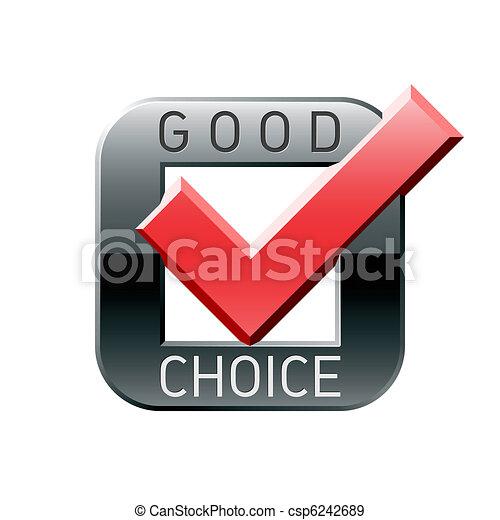 Good choice tick - csp6242689
