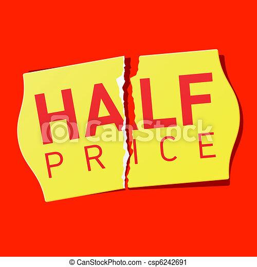 Half price sticker - csp6242691