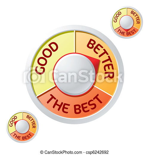 Good - Better - The Best emblems - csp6242692