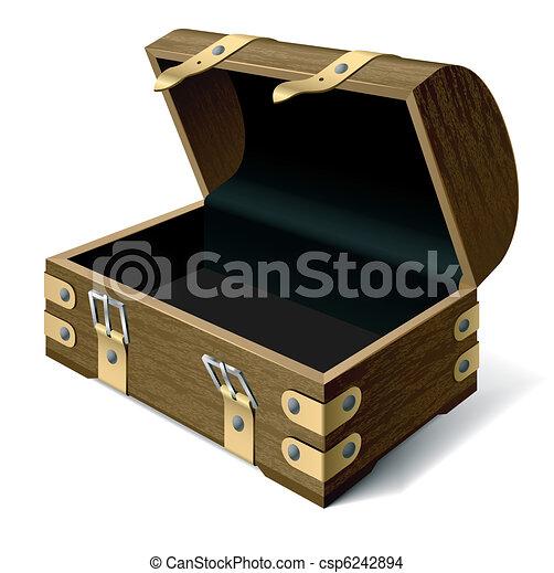 Empty treasure chest - csp6242894