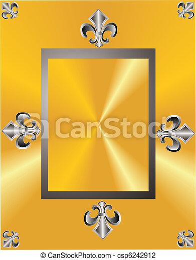 Fleur de lis elegance in a frame - csp6242912