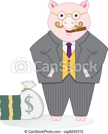 Banker Pig - csp6243315