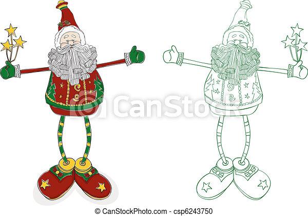 Santa Long Legs - csp6243750