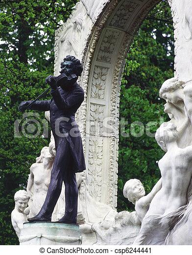 Statue of Johann Strauss - csp6244441