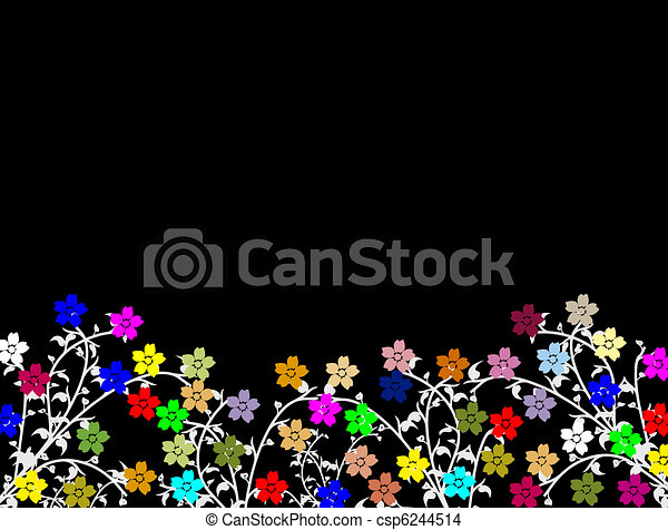 Bright flowers background - csp6244514