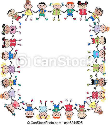 mixed ethnic kids - csp6244525