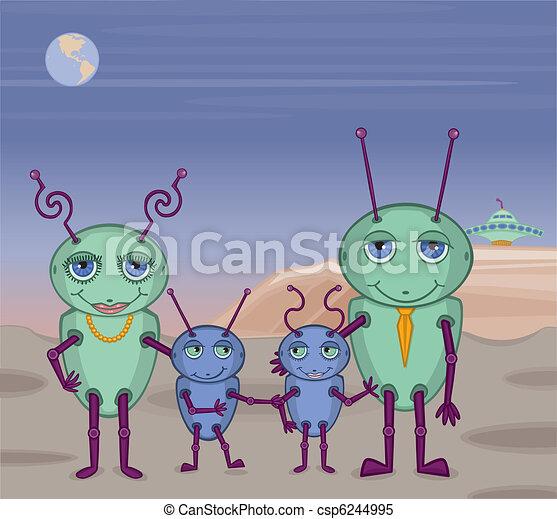 Alien Family Photo - csp6244995