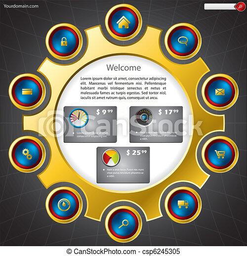 Shopping website template - csp6245305
