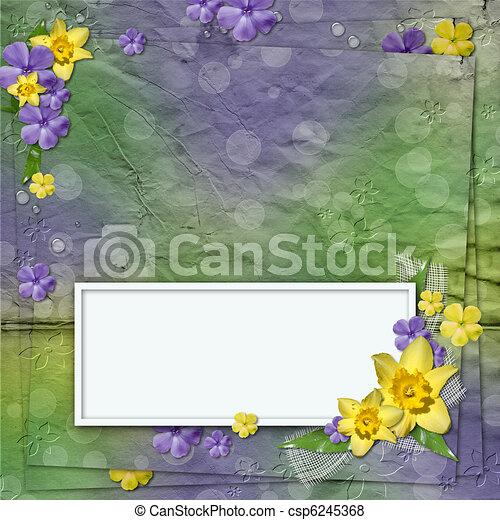 Spring Framework for invitation or congratulation - csp6245368