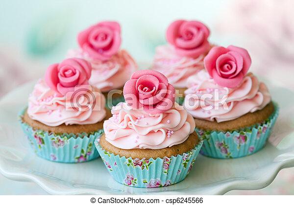 Vintage cupcakes - csp6245566