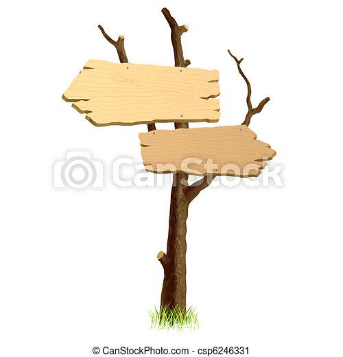 Wooden signboard - csp6246331