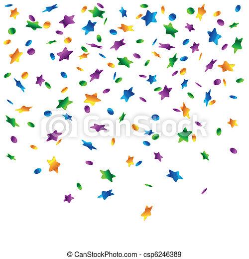 Rain of confetti - csp6246389
