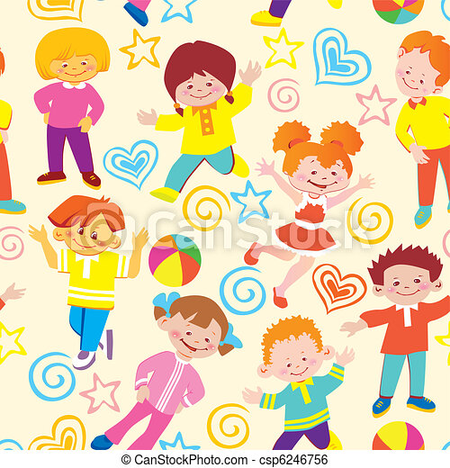 Seamless  children pattern. - csp6246756