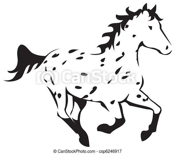 Coloring Page Horse Running