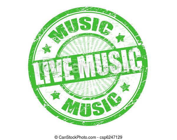 Live music stamp - csp6247129