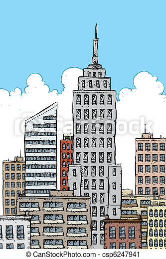 clipart of big city cartoon downtown of a big city csp6247941 search clip art  illustration sunset clip art gallery sunset clip art with children