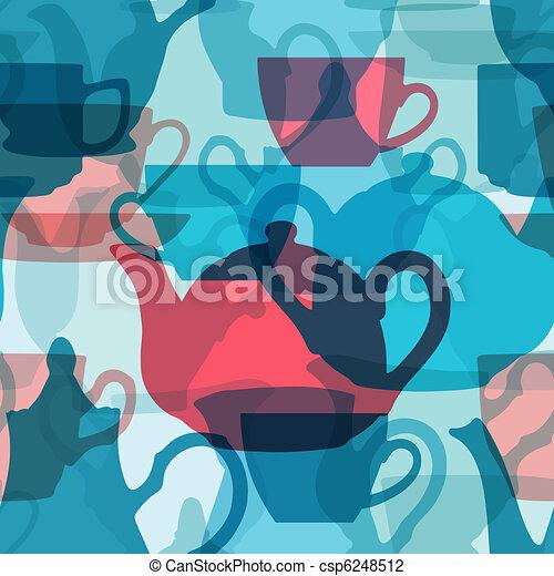 Seamless crockery background. - csp6248512