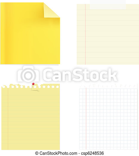 ?ollection Of Note Papers - csp6248536