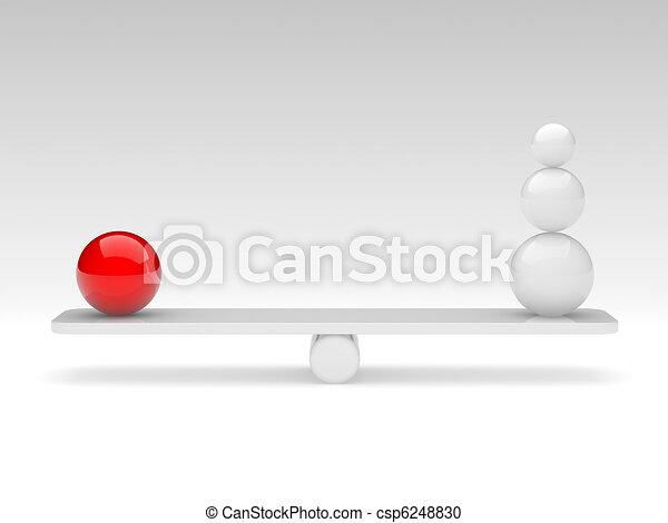 spheres compare (balance concept) - csp6248830