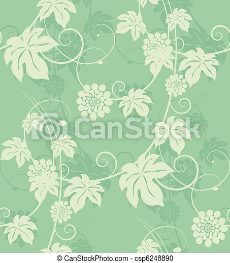 Garden flowers seamless background. - csp6248890