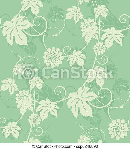 Garden flowers seamless background. - csp6248890