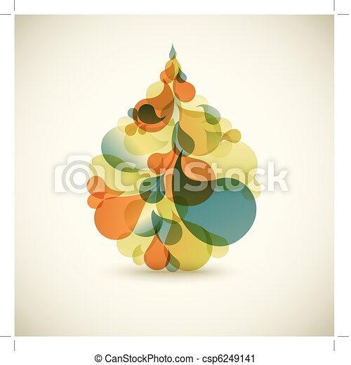 Droplet - Abstract colorful background - csp6249141