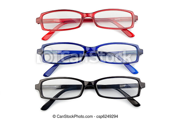 Black red and blue glasses - csp6249294