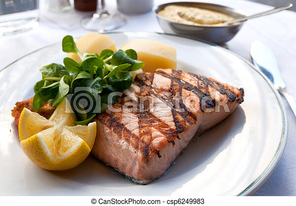grilled salmon - csp6249983