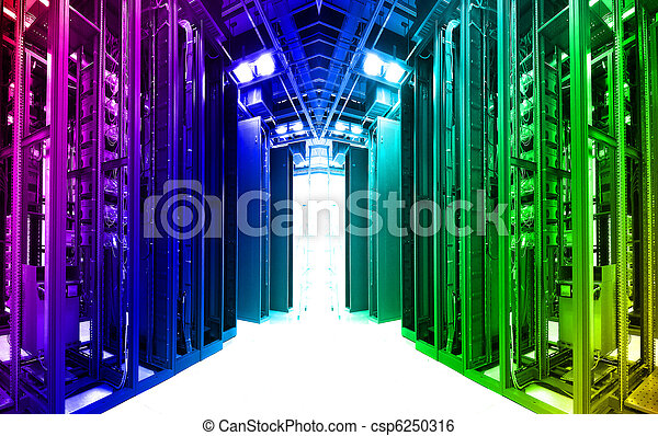 shot of network cables and servers in a technology data center   - csp6250316