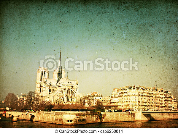 beautiful view Notre Dame Cathedral