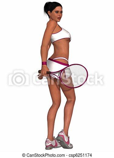 Joueur de tennis fille chaude