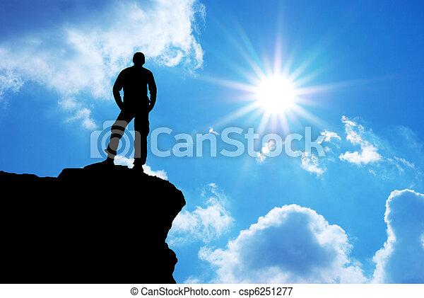 Man on top - csp6251277