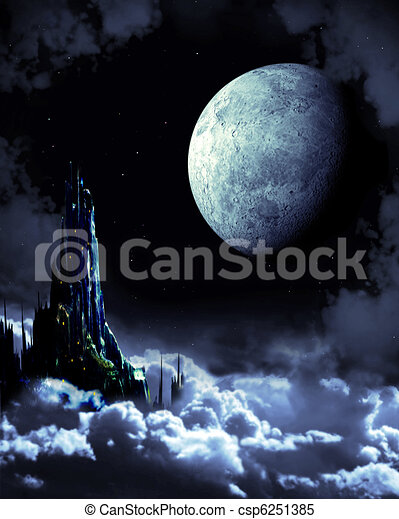 Night fairy-tale - csp6251385