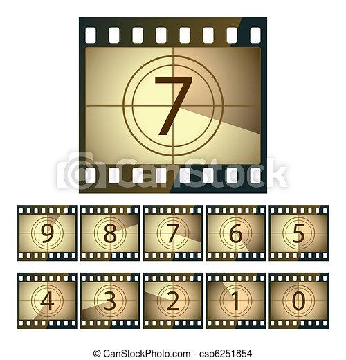 Film countdown - csp6251854