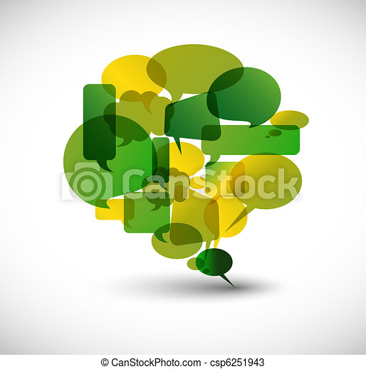 Big green speech bubble - csp6251943