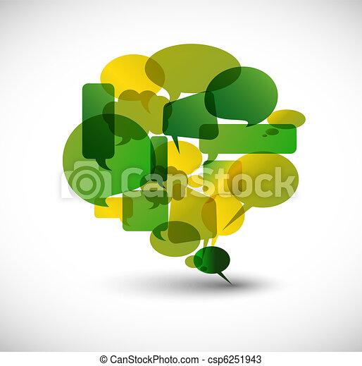 Big green speech bubble - csp6251943