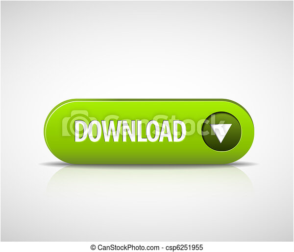 Big green download now button - csp6251955