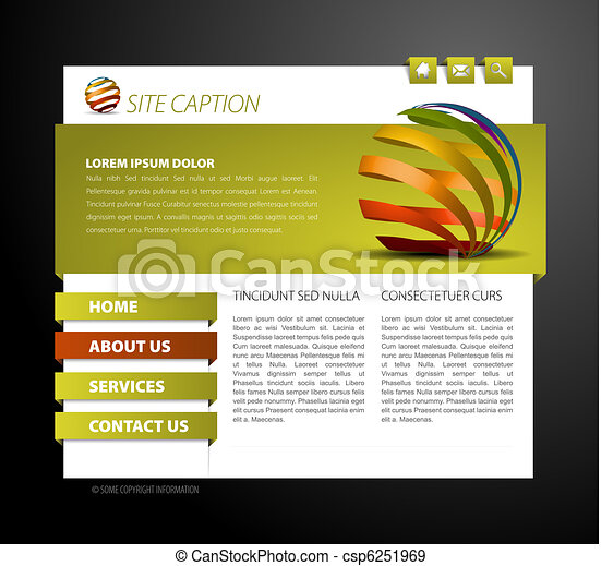 Modern web page template - csp6251969