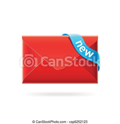 New e-mail icon - csp6252123