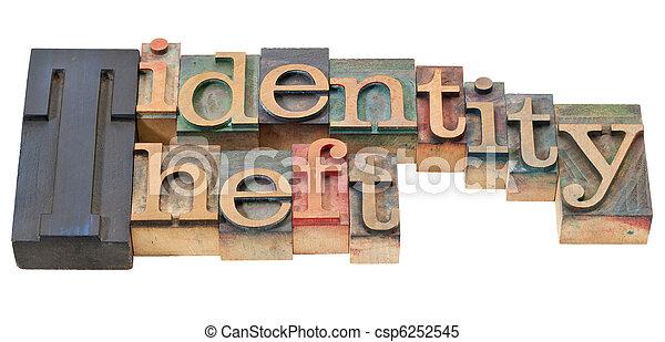 identity theft in letterpress type - csp6252545